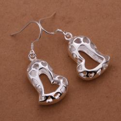 Vienna Jewelry Sterling Silver Laser Cut Petite Heart Shaped Earring - Thumbnail 0