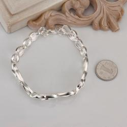 Vienna Jewelry Sterling Silver Floral Emblem Connected Bracelet - Thumbnail 0