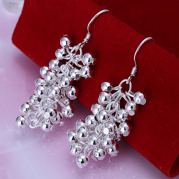Vienna Jewelry Sterling Silver Full Fill Orchid Drop Earring