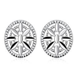 Vienna Jewelry Sterling Silver Shield Emblem Pendant Stud Earring - Thumbnail 0