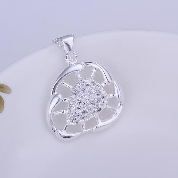Vienna Jewelry Sterling Silver Laser Cut Sea Shell Pendant