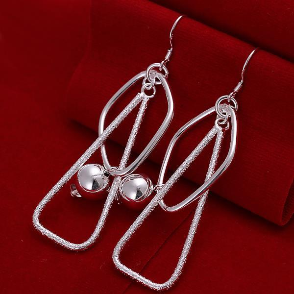 Vienna Jewelry Sterling Silver Abstract Pyramid Drop Earring