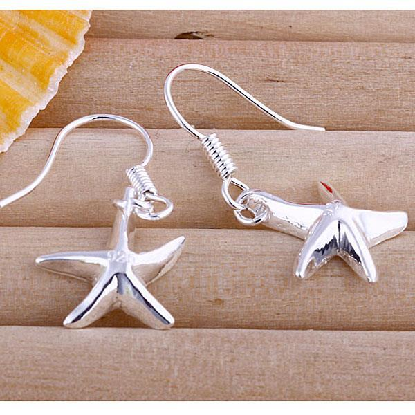 Vienna Jewelry Sterling Silver Five-Point Starfish Earring