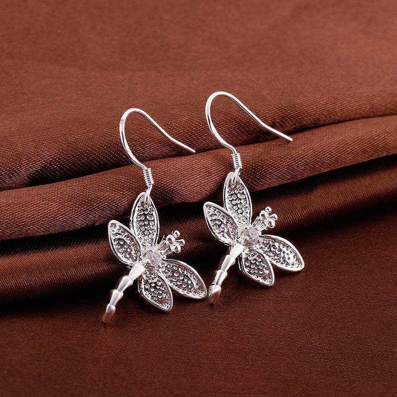 Vienna Jewelry Sterling Silver Flying Butterflies Earring
