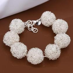 Vienna Jewelry Sterling Silver Multi Ball Connecting Bracelet - Thumbnail 0