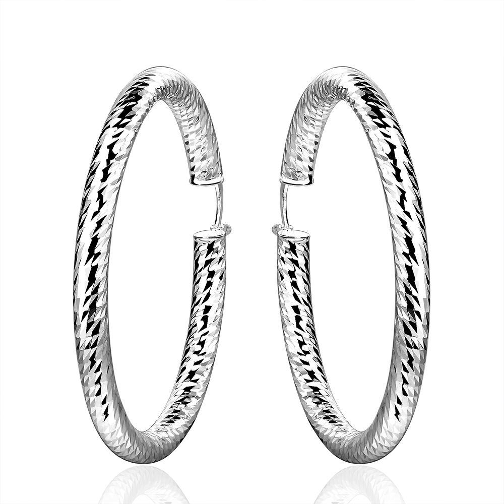 Vienna Jewelry Sterling Silver Mid Size Intertwined Hoop Earring