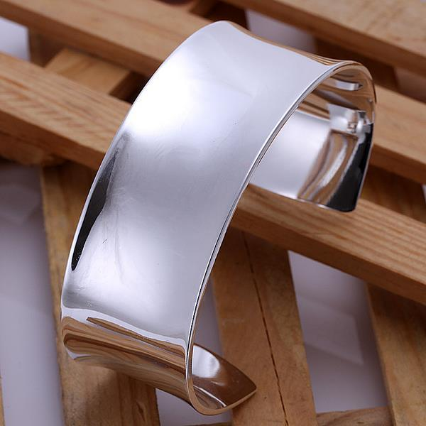 Sterling Silver Modern Classic Open Bangle