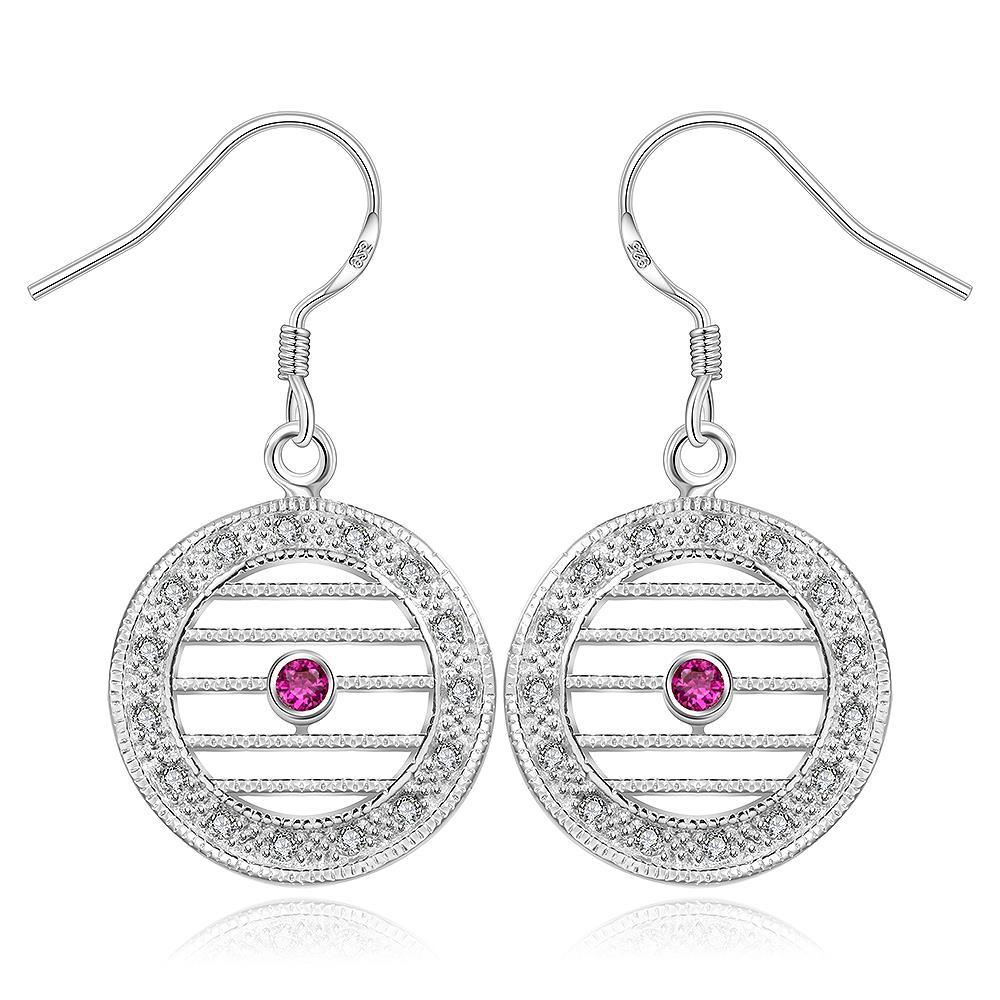 Vienna Jewelry Sterling Silver Laser Cut Linear Drop Earring