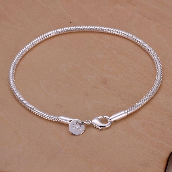 Vienna Jewelry Sterling Silver Petite Lined Bracelet