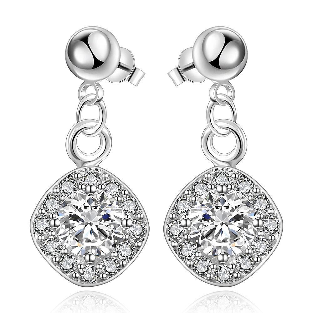 Vienna Jewelry Sterling Silver Crystal Filled Pendant Classical Drop Earring