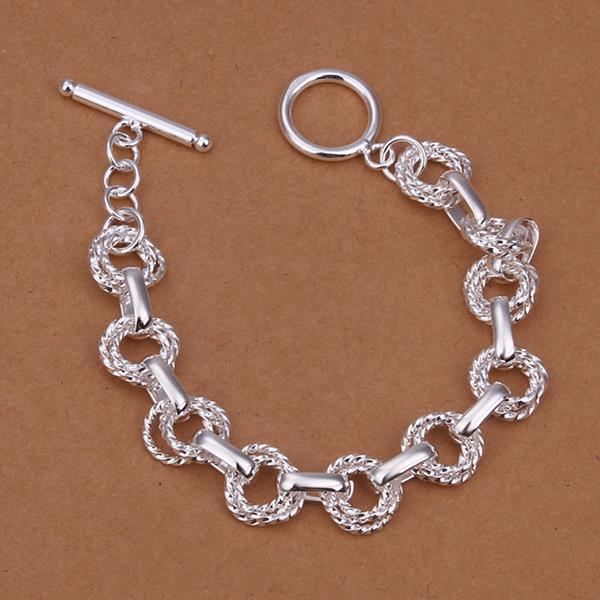 Vienna Jewelry Sterling Silver Multi-Connected Intertwined Bracelet