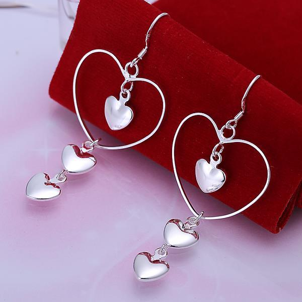 Vienna Jewelry Sterling Silver Trio-Petite Hearts Earring