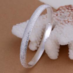 Sterling Silver Jewels Covering Classic Bangle - Thumbnail 0