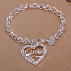 Vienna Jewelry Sterling Silver Jesus Is Love Bracelet - Thumbnail 0