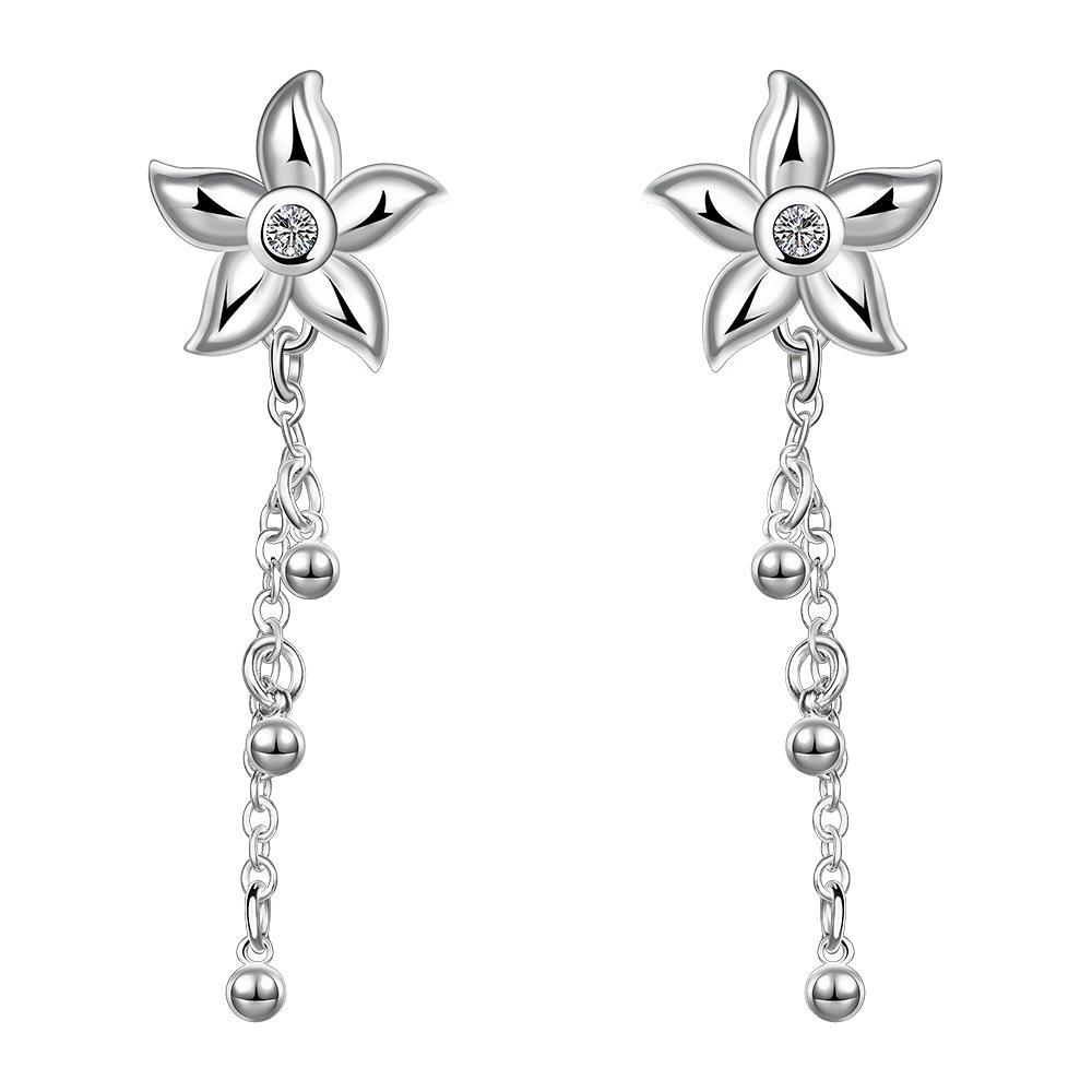 Vienna Jewelry Sterling Silver Starfish Pendant Drop Earring