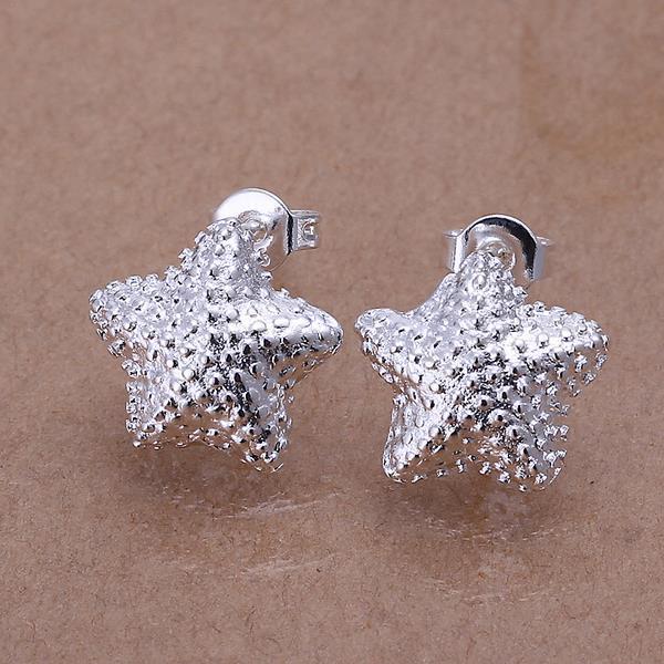 Vienna Jewelry Sterling Silver Beaded Starfish Stud Earring