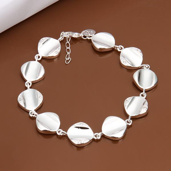 Vienna Jewelry Sterling Silver Multi Circular Shaped Connected Bracelet