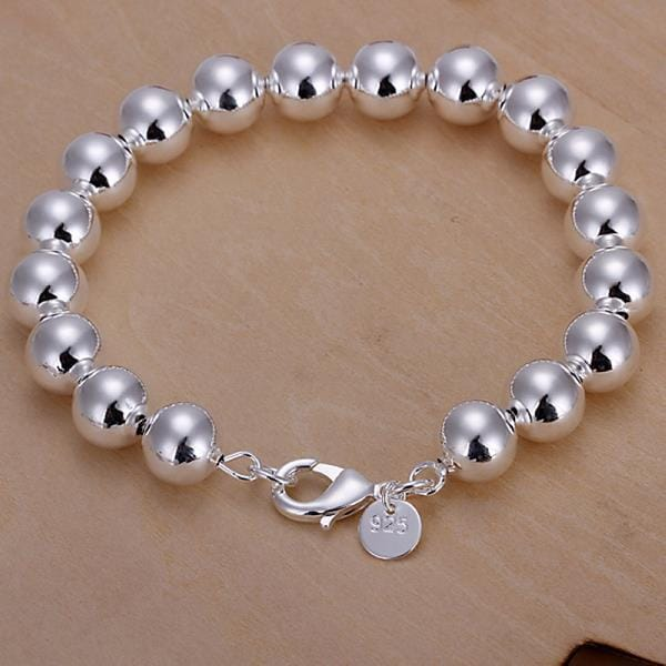 Vienna Jewelry Sterling Silver Mid Size Pearl Bracelet