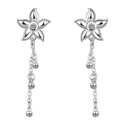 Vienna Jewelry Sterling Silver Starfish Pendant Drop Earring - Thumbnail 0