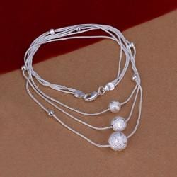 Vienna Jewelry Sterling Silver Trio-Pearl Dangling Necklace - Thumbnail 0
