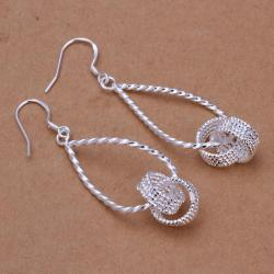 Vienna Jewelry Sterling Silver Love Knot Drop Earring - Thumbnail 0