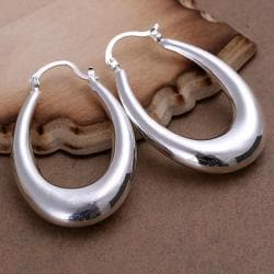 Vienna Jewelry Sterling Silver Modern Twist Hoops - Thumbnail 0