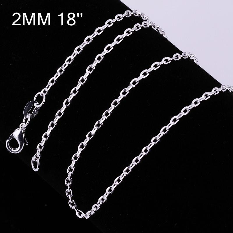 Vienna Jewelry Sterling Silver Mini Connected Chain Necklace