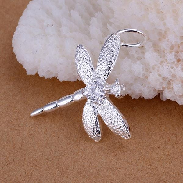 Vienna Jewelry Sterling Silver Petite Butterfly Pendant