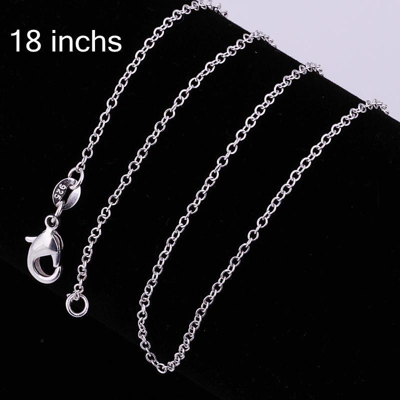 Vienna Jewelry Sterling Silver Classic Italian Inspired Chain Necklace