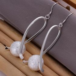 Vienna Jewelry Sterling Silver Pearl Curved Earring - Thumbnail 0