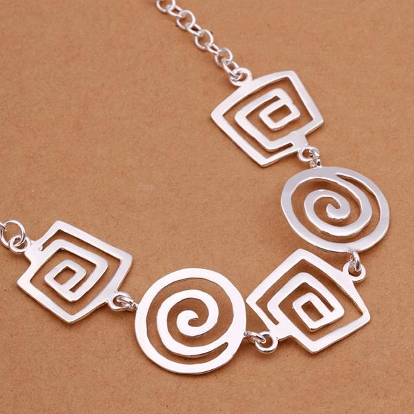 Vienna Jewelry Sterling Silver Multi Spiral Emblem Necklace