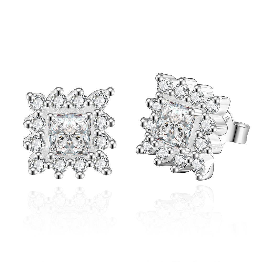 Vienna Jewelry Sterling Silver Crystal Stones Blossoming Stud Earring