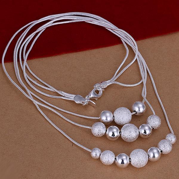 Vienna Jewelry Sterling Silver Multi Pearl & Bead Necklace
