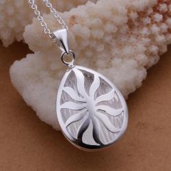 Vienna Jewelry Sterling Silver Starfish Input Emblem Drop Necklace - Thumbnail 0