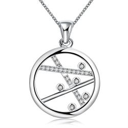 Vienna Jewelry Sterling Silver Lined Pendant Necklace - Thumbnail 0