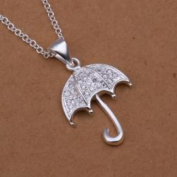 Vienna Jewelry Sterling Silver Jewels Umbrella Drop Necklace - Thumbnail 0