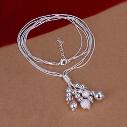 Vienna Jewelry Sterling Silver Pearl Orchid Drop Necklace - Thumbnail 0