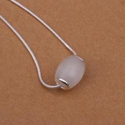 Vienna Jewelry Sterling Silver Rolling Crystal Drop Necklace - Thumbnail 0
