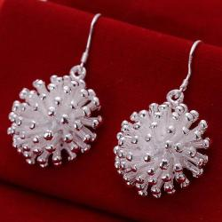 Vienna Jewelry Sterling Silver Beaded Ball Drop Earring - Thumbnail 0