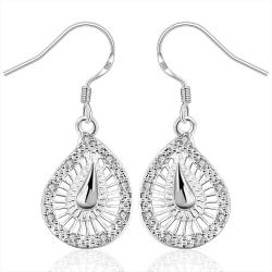 Vienna Jewelry Sterling Silver Laser Cut Spiral Drop Earring - Thumbnail 0
