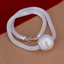 Vienna Jewelry Sterling Silver Large Pearl Closure Necklace - Thumbnail 0