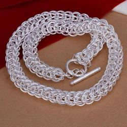 Vienna Jewelry Sterling Silver Thick Circular Chain Necklace - Thumbnail 0