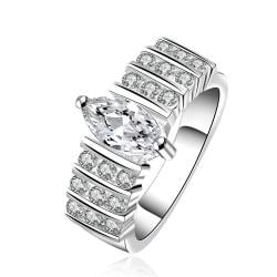 Vienna Jewelry Sterling Silver Multi Crystal Jewels Surronding Ring Size: 8 - Thumbnail 0