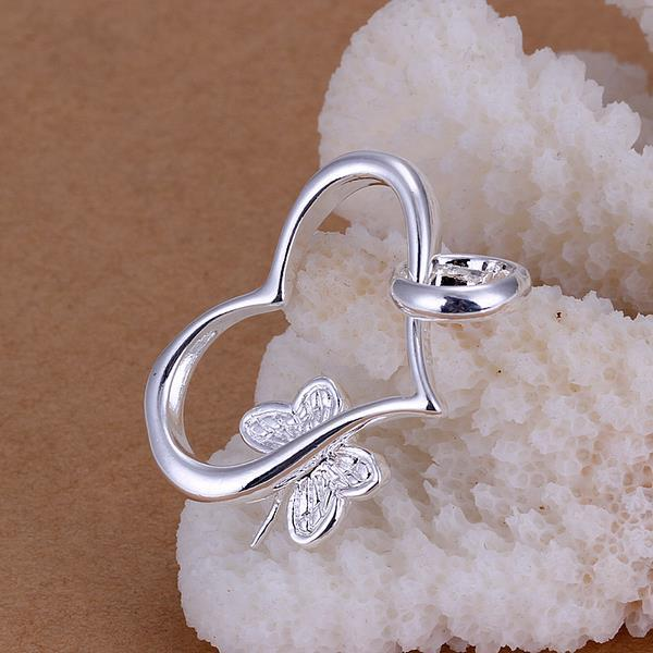 Vienna Jewelry Sterling Silver Heart Dangling Charms Pendant