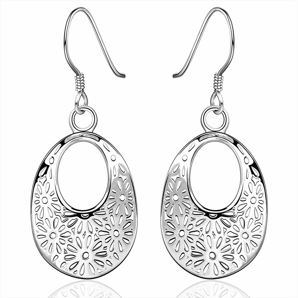 Vienna Jewelry Sterling Silver Filligree Hoop Drop Earring
