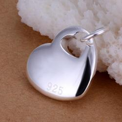 Vienna Jewelry Sterling Silver Classic Heart & Charms Pendant - Thumbnail 0