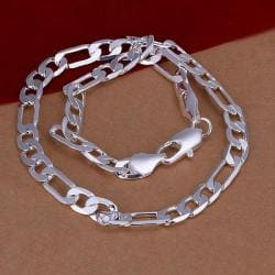 Vienna Jewelry Sterling Silver London Inspired Chain Necklace - Thumbnail 0