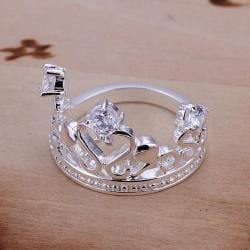 Vienna Jewelry Sterling Silver Laser Cut Crown Jewel Petite Ring Size: 8 - Thumbnail 0