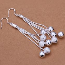 Vienna Jewelry Sterling Silver Orchid of Pearls Drop Earring - Thumbnail 0