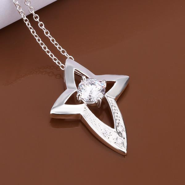 Vienna Jewelry Sterling Silver Dangling Starfish Emblem Drop Necklace